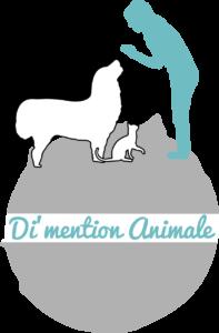 Logo de Di'mention animale, comportementaliste canin dans les Landes et en Auvergne.