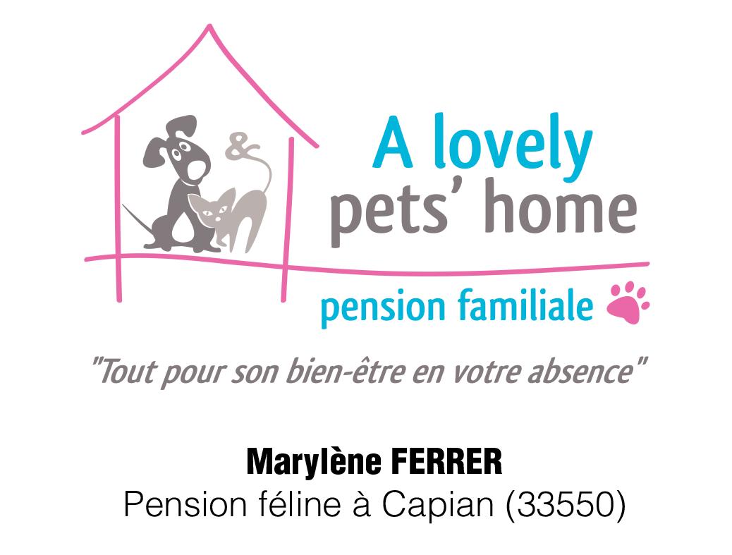 Logo de A lovely pet's home, partenaire de Di'mention animale.